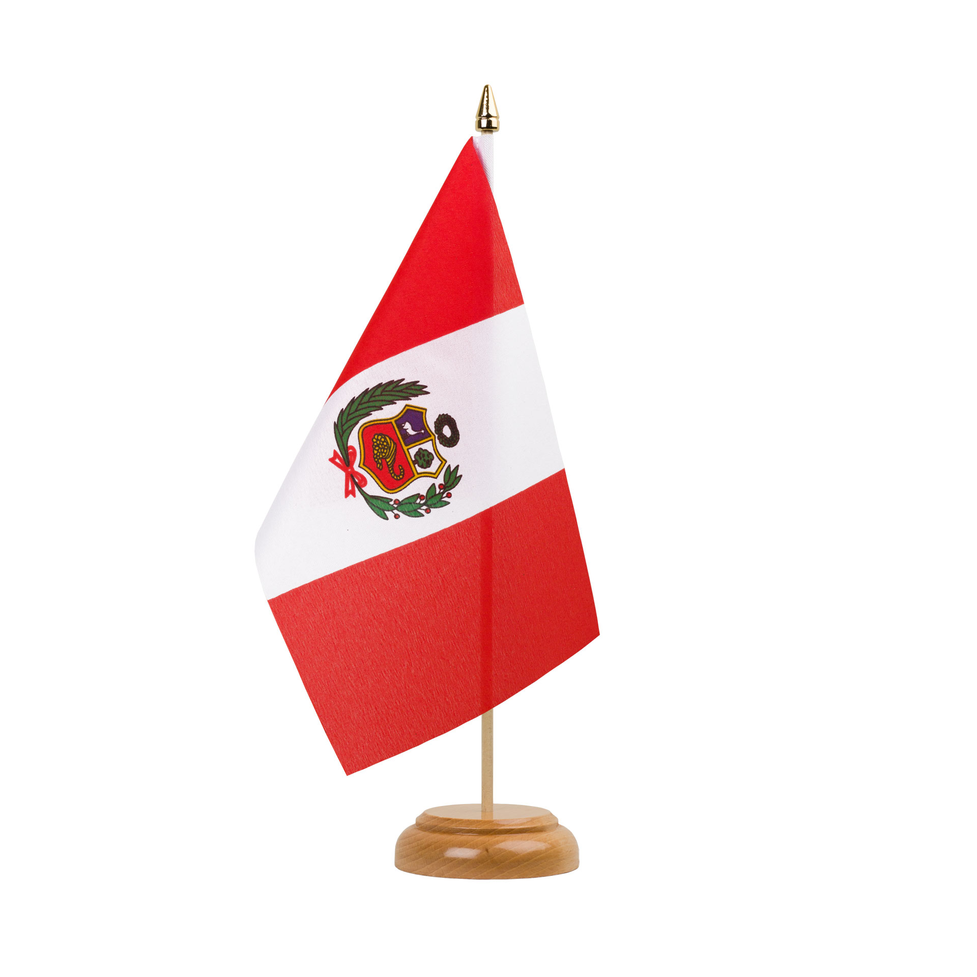 table flag peru 6x9 wooden royal flags