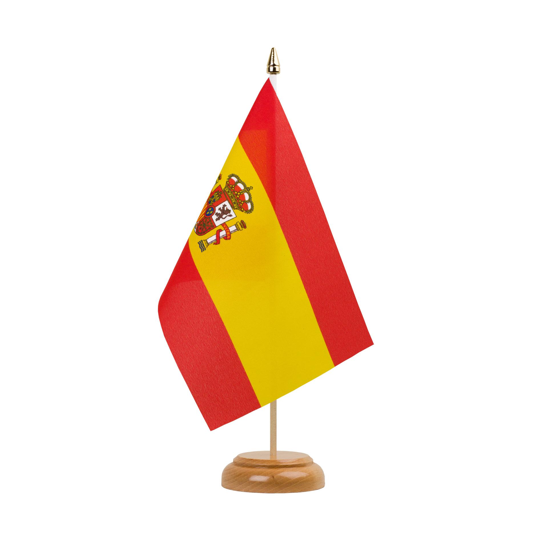 Drapeau De Table Espagne 15 X 22 Cm Bois Monsieur Des Drapeaux